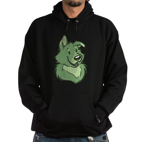 Pickles The Porch Dog Hoodie (dark)