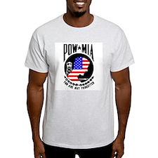 POW MIA Flag Ash Grey T-Shirt