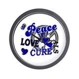 Peace Love Cure ALS 2 Wall Clock