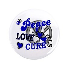"Peace Love Cure ALS 2 3.5"" Button (100 pack)"