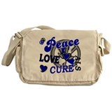 Peace Love Cure ALS 2 Messenger Bag