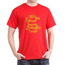 Chinese Dragon Men's T-Shirt (Red)