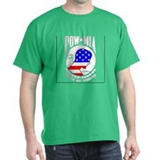 POW MIA American Flag Black T-Shirt