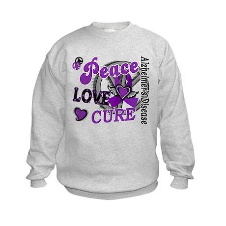 Peace Love Cure 2 Alzheimers Kids Sweatshirt