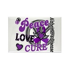 Peace Love Cure 2 Alzheimers Rectangle Magnet (100