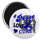 Peace Love Cure 2 Anal Cancer Magnet