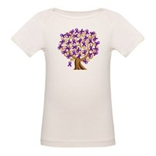 Purple Ribbon Awareness Tree Tee