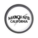 March AFB California Wall Clock