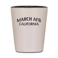 March AFB California Shot Glass