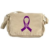 Purple Ribbon Daisy Awareness Messenger Bag