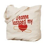 Jeanne Lassoed My Heart Tote Bag