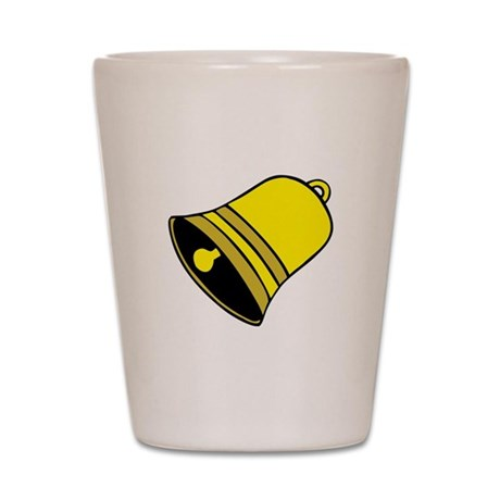 Yellow Christmas Bell Shot Glass