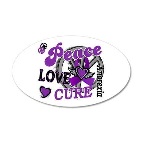 Peace Love Cure 2 Anorexia Shirts Gifts 22x14 Oval