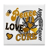 Peace Love Cure 2 Appendix Cancer Shirts Gifts Til