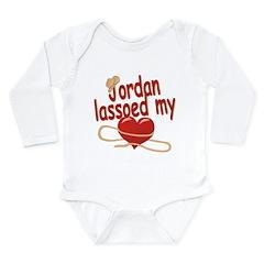 Jordan Lassoed My Heart Long Sleeve Infant Bodysui
