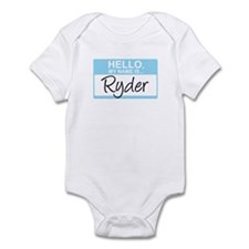 Hello, My Name is Ryder - Infant Bodysuit
