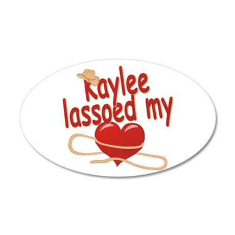 Kaylee Lassoed My Heart 38.5 x 24.5 Oval Wall Peel