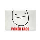 Poker Face Rectangle Magnet (100 pack)
