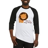 She's My Mate Couples Lion Baseball Jersey