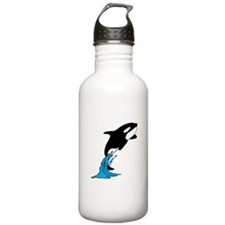 Killer Whale Jump Sports Water Bottle