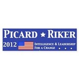 Picard Riker 2012 Election Bumper Sticker