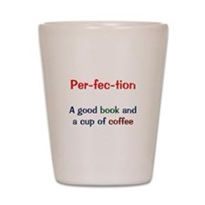Perfection Book and Coffee Shot Glass