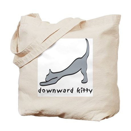 Downward Kitty Tote Bag