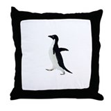 Socially Awkward Penguin Clea Throw Pillow