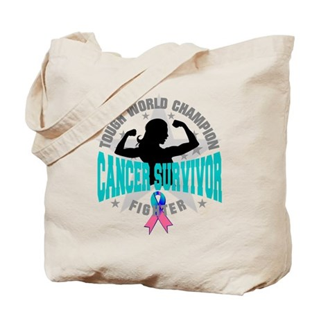 Tough Thyroid Cancer Survivor Tote Bag