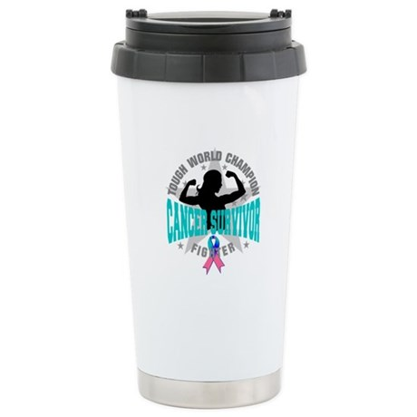 Tough Thyroid Cancer Survivor Ceramic Travel Mug
