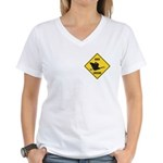 Canada Goose Crossing Sign Women's V-Neck T-Shirt