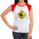 Canada Goose Crossing Sign Women's Cap Sleeve T-Sh
