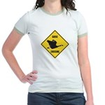 Canada Goose Crossing Sign Jr. Ringer T-Shirt