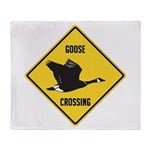 Canada Goose Crossing Sign Throw Blanket