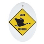 Canada Goose Crossing Sign Ornament (Oval)