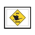 Canada Goose Crossing Sign Framed Panel Print