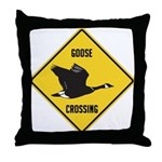 Canada Goose Crossing Sign Throw Pillow