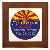 Santorum ARIZONA Framed Tile