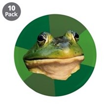"Foul Bachelor Frog 3.5"" Button (10 pack)"