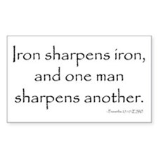 Cute Iron sharpens iron Decal