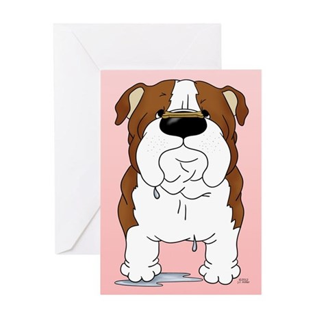 Bulldog Valentine Greeting Card