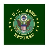 Army Retired Tile Coaster