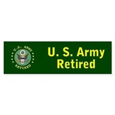 Army Retired Bumper Bumper Sticker