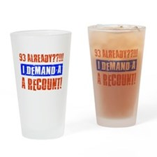 93rd birthday design Drinking Glass