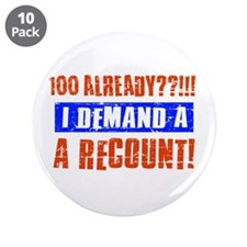 "100th birthday design 3.5"" Button (10 pack)"