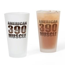 American Muscle 390 Ford Drinking Glass