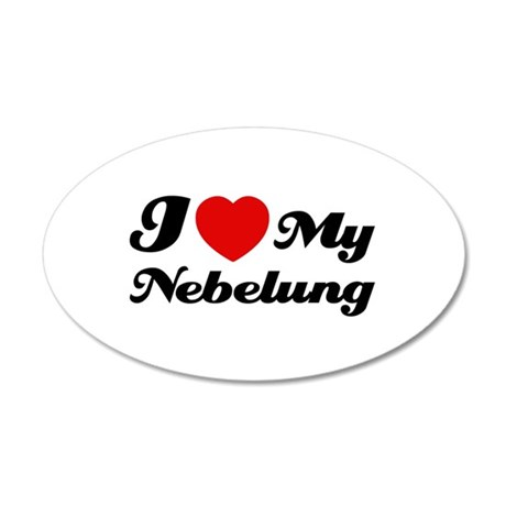 I love my Nebelung 38.5 x 24.5 Oval Wall Peel