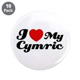 "I love my Cymric 3.5"" Button (10 pack)"