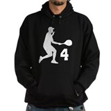 Tennis Uniform Number 4 Player Hoodie