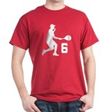 Tennis Uniform Number 6 Player T-Shirt